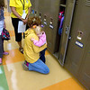 Record-Eagle/Keith King<br /> Aubrey Adams, 3, of Traverse City, holds her mother, Amanda Adams, Tuesday, September 6, 2011 prior to Aubrey's first day of preschool at Long Lake Elementary School.