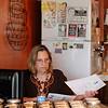 Record-Eagle/Jan-Michael Stump<br /> Sarah Dalgliesh spent Monday at her coffee shop, Crow About It Coffee and Cakes.