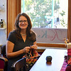 Record-Eagle/Dan Nielsen<br /> Heather Adle opened her Knit Knorth yarn shop in downtown Traverse City in May.
