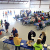 Record-Eagle/Jan-Michael Stump<br /> Hundreds turned out for the 6th annual Wings of Mercy Fly-In Benefit Saturday at Cherry Capital Aviation, which included a pancake breakfast and the chance to fly with some of the pilots, who provide free air transport to distant medical facilities for people who need treatment but have limited financial means. Money raised at the event goes to offset fuel costs, which currently runs around $6.90 a gallon. Six Wings of Mercy pilots and their planes were on hand, as well as Northflight EMS and representatives from Coast Guard Air Station Traverse City. The organization has flown about 3,000 flights over the past 20 years.