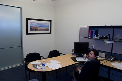 Hanging the panorama in Nanette's office