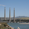 A view of the smokestacks from Morro Rock.