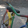 A beat up but colorful bike that we saw along the way.
