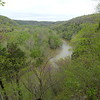 """A view from the Green River Bluffs trail at Mammoth Cave.  The last verse of John Prine's Paradise was a constant earworm as we walked along the river, """"When I die let my ashes float down the Green River...""""."""