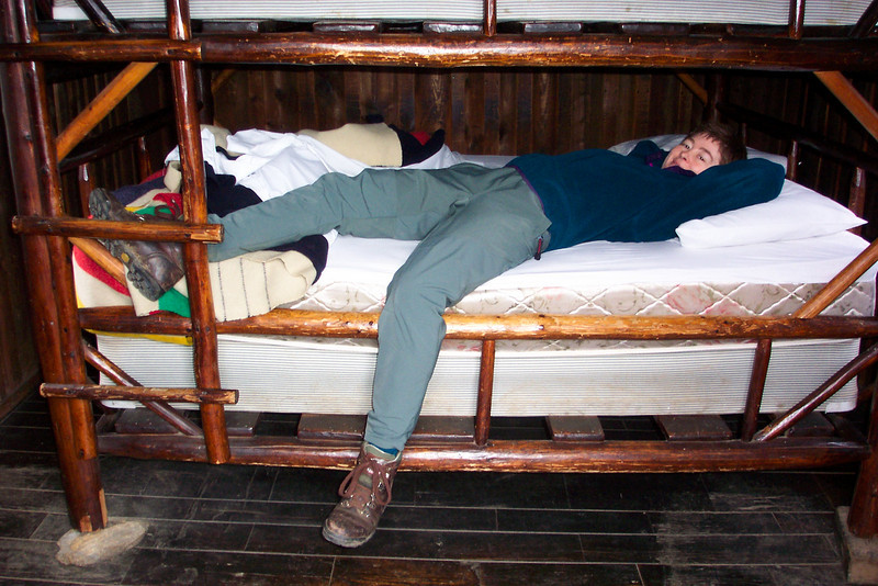 The bunk beds we whacked our heads on many times.