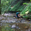 We make several stream crossings, and mostly manage to keep our feet dry.