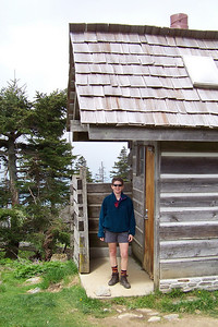 Since much of the trail is on the side of a cliff, or full of fellow hikers, the latrine at the Mt. LeConte Lodge is a welcome sight.