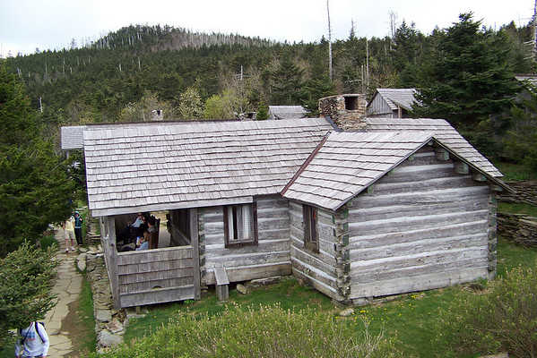 The people who were lucky enough to have their names drawn in the yearly lottery can stay in the cabins here overnight; Jeane and I will eat our Snickers, take advantage of the latrine, and head back down the mountain.