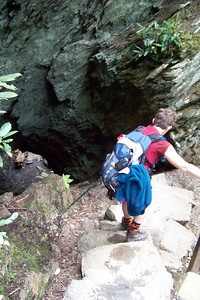Another interesting feature of this trail is called Arch Rock, the trail ascends, then descends down through this chasm.