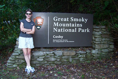As we return to the Cosby campground, we stop to photograph the entrance sign.