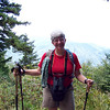 We admire the view from the Appalachian Trail between Newfound Gap and Charlie's Bunion.