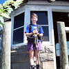 When Patti finally tears herself away from the butterfly-laden trail intersection, we continue along the Appalachian Trail until we reach a spur that takes us to the Mt. Cammerer fire tower.