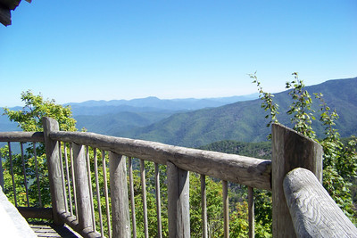 A view from the Mt. Cammerer fire tower.