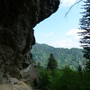 The peregrines nest on the cliff above Alum Cave; we always stop for a rest here to listen to them and enjoy the view.