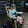 At the Mt. LeConte lodge we rest in comfy rocking chairs, buy candy bars and souvenirs, use the nice latrine, and refill our camelbaks before starting the long walk down the mountain.