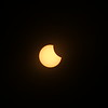 Solar Eclipse - the sun starts to look a little like Pac-Man.