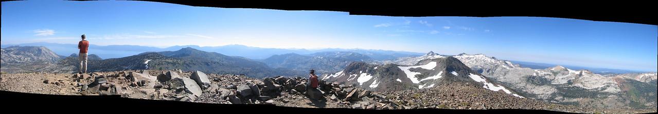 Steve and fellow hiker atop Dick's Peak.