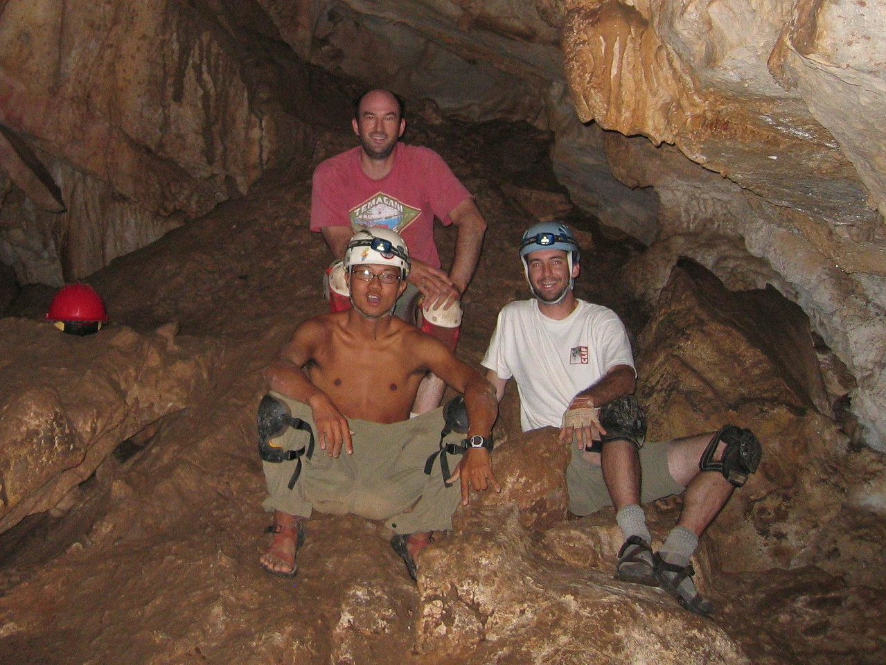 And the best group shot in a cave.