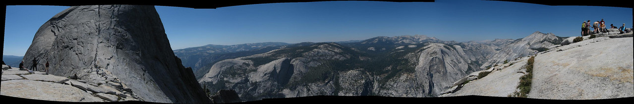 Some panos for those of you that read this far.  If you want to see them bigger, click on the pick and click on Original.  Some are really, really, big so beware.  <br /> <br /> - Shoulder of Half Dome...looking at the cables.