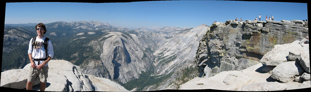 Hoeft at the top of Half Dome.