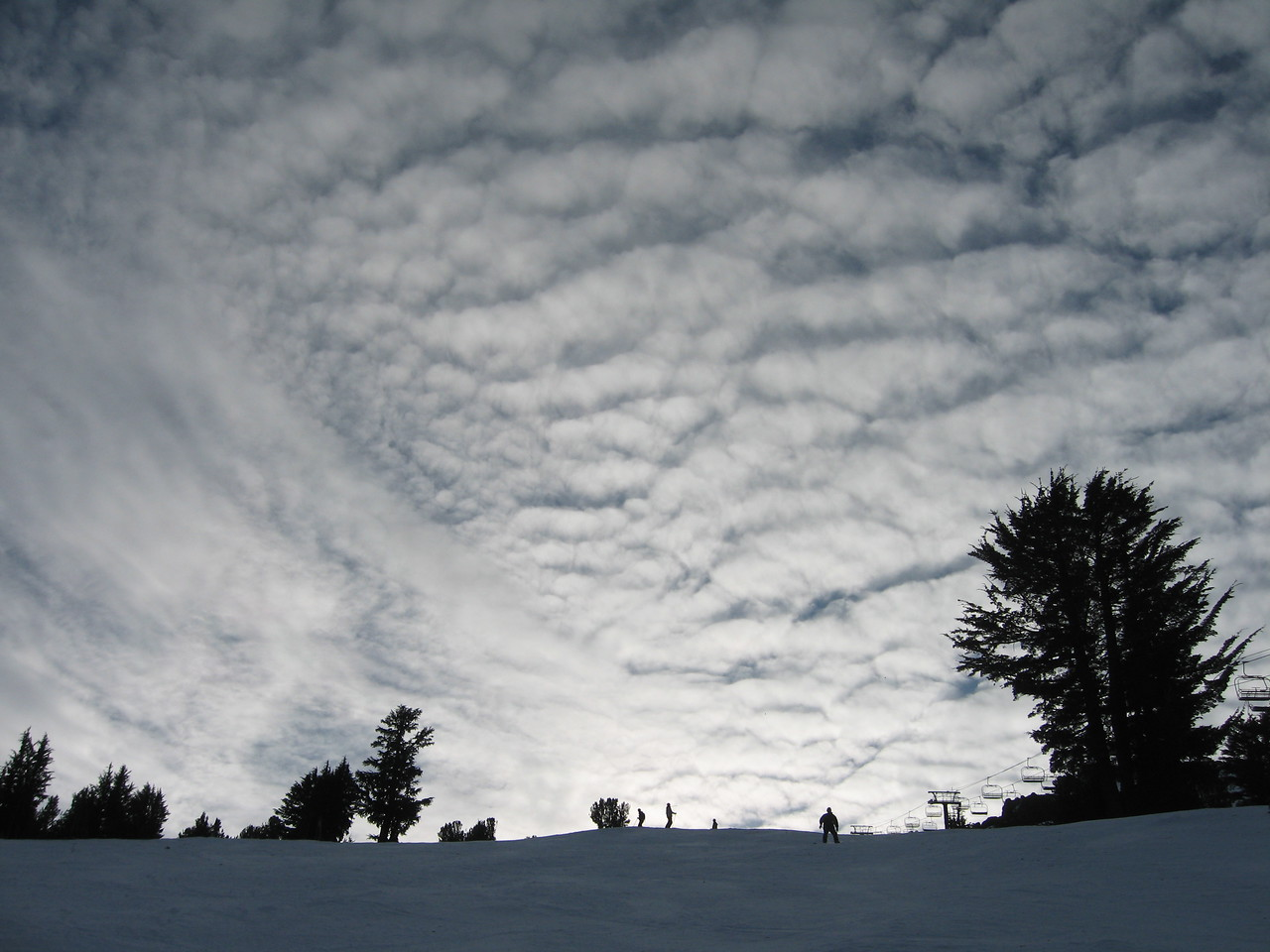 The weather wasn't all that for skiing, but it made for some cool pics.