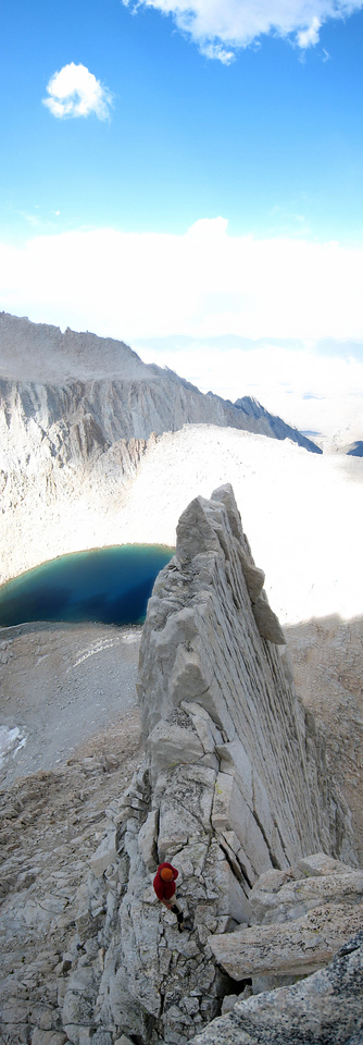 The First Tower of Mt. Whitney with Iceburg Lake behind