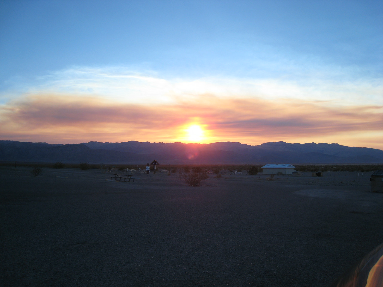 Sunset at Furnace Creek.