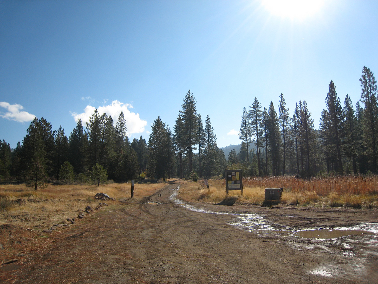 Sierra Hot Springs has several hot springs spread out on the premises... You park here...