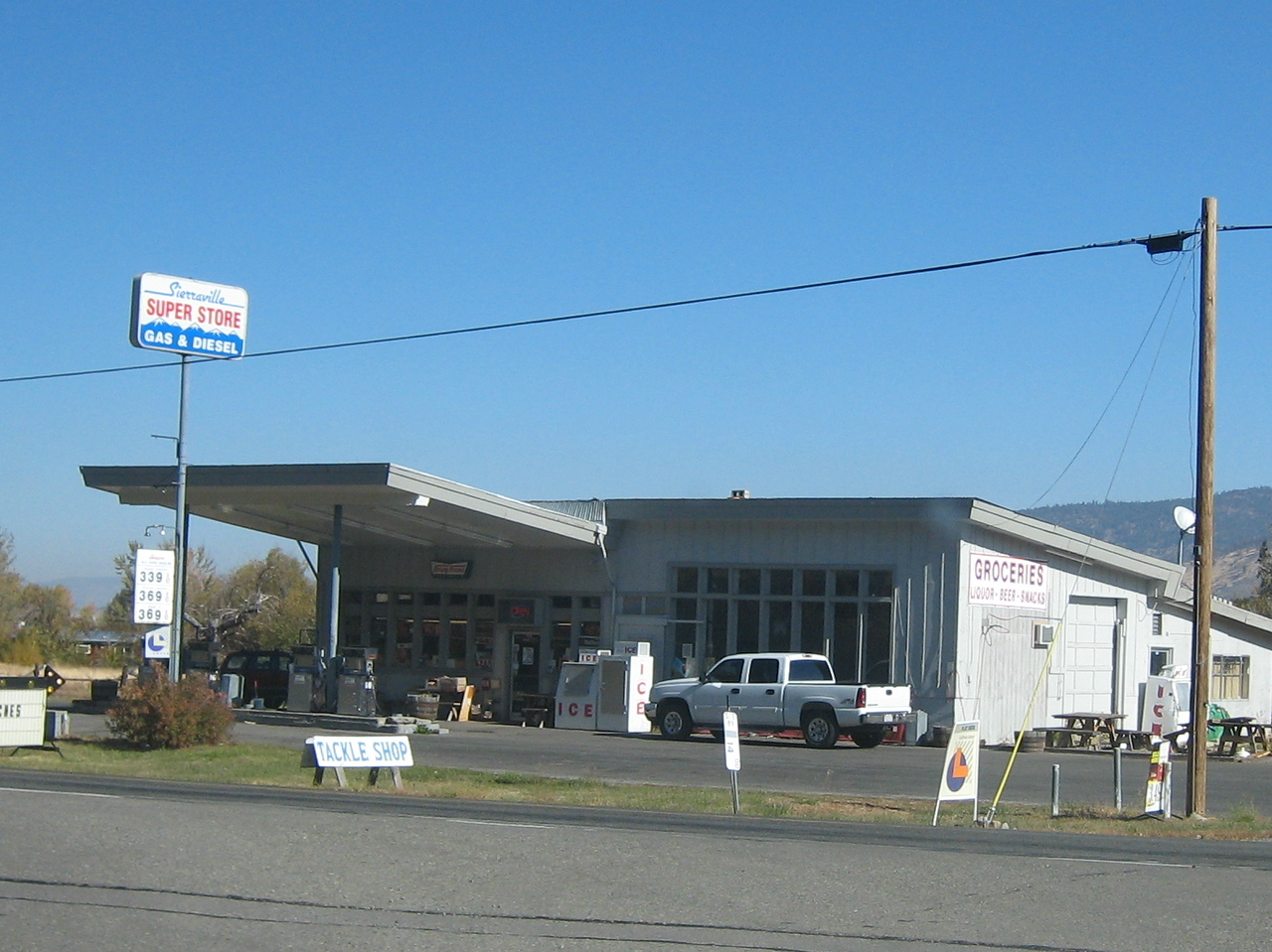 And the Sierraville super market. <br /> <br /> Sierra county is pretty small... and has ONE traffic light in the whole county.