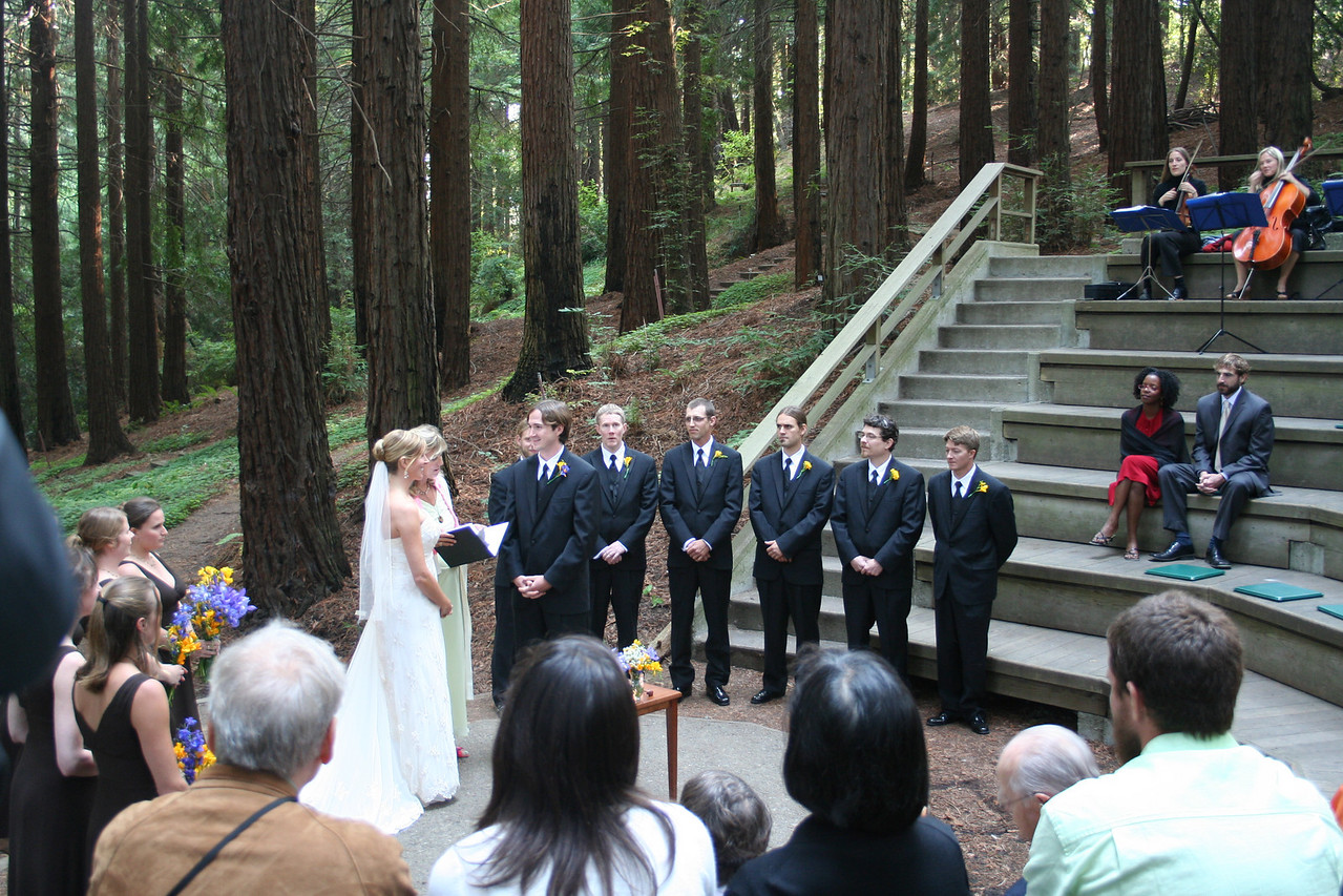And up to the UC Botanical Gardens for Aaron and Chelsea's wedding.