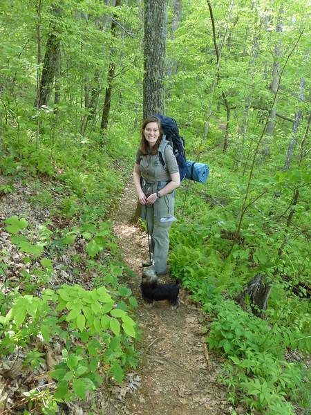 Beginning the James E. Edmond Backcountry Trail