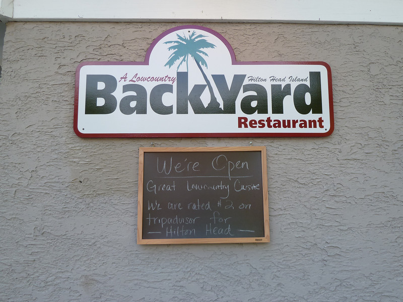BackYard Restaurant, Hilton Head Island