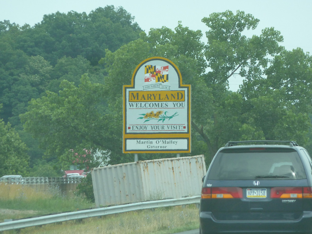 Maryland (Welcome State Road Sign)