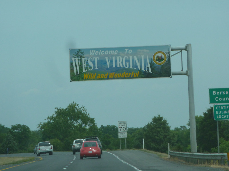 West Virginia (Welcome State Road Sign)