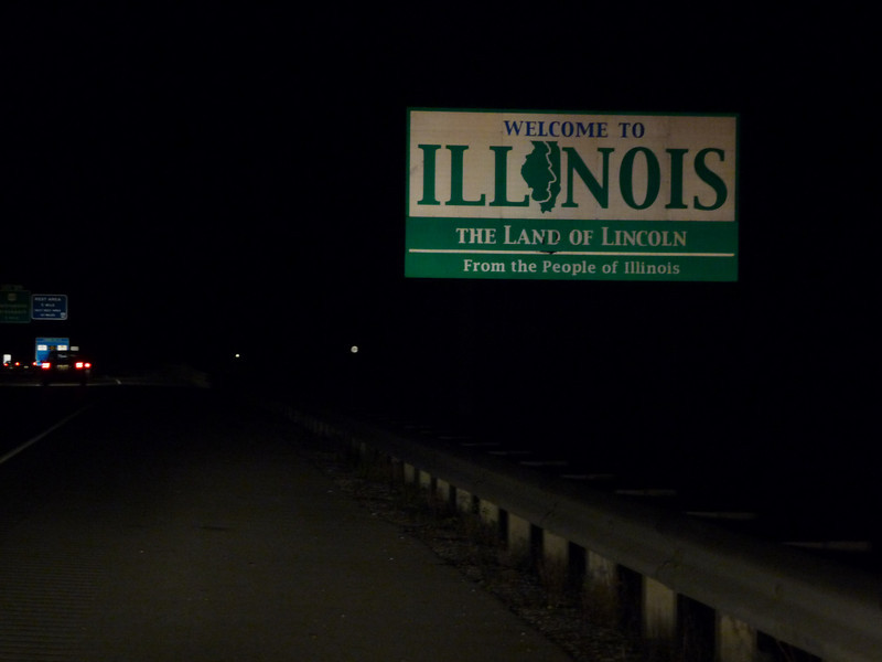 Illinois (Welcome State Road Sign)