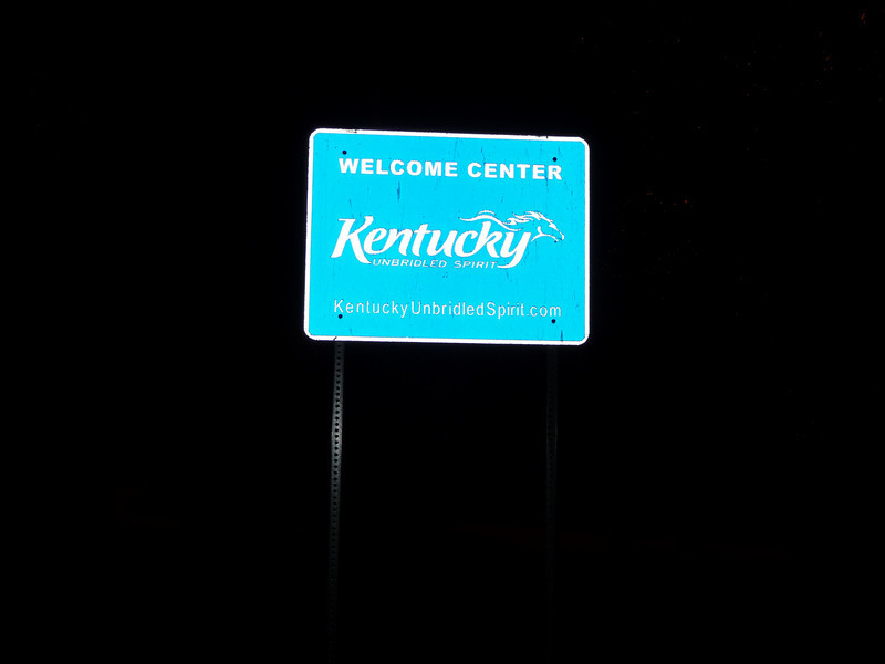 Kentucky (Welcome State Road Sign)