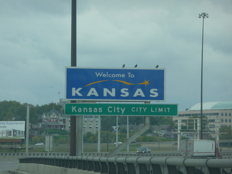 Kansas (Welcome State Road Sign)