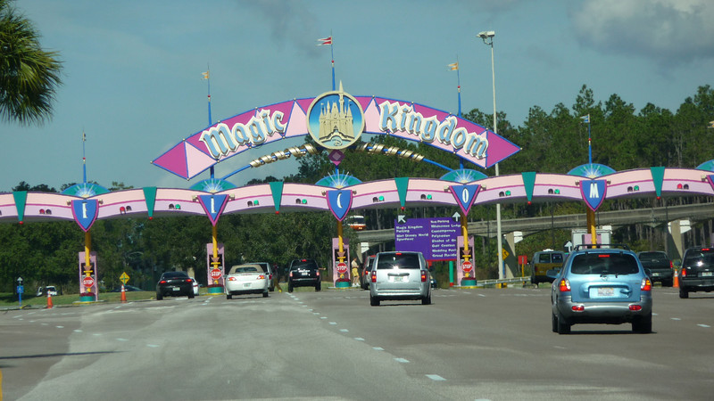 Entrance to Magic Kingdom.