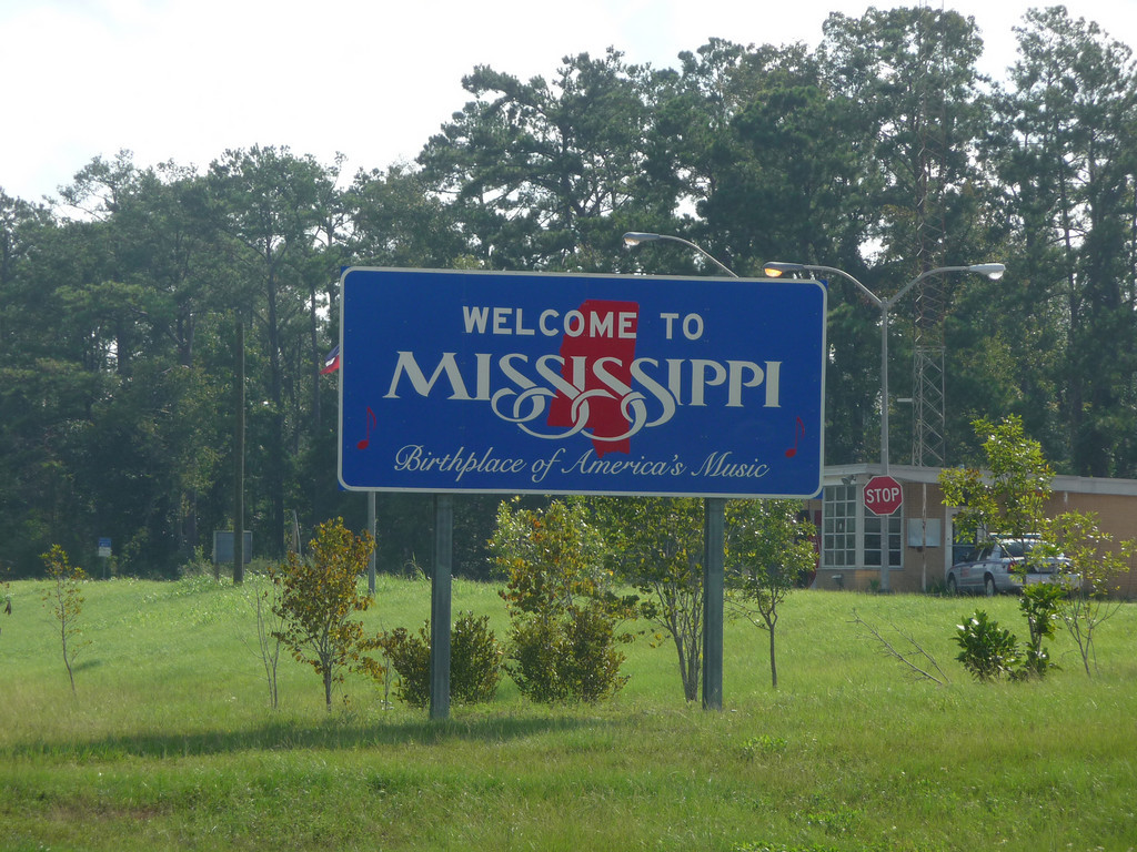 Mississippi (Welcome State Road Sign)