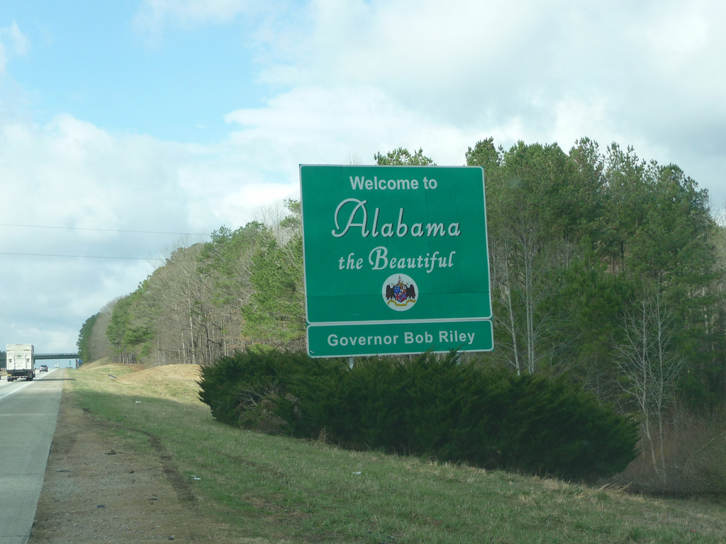 Alabama (Welcome State Road Sign)