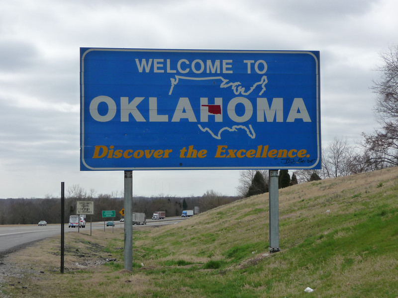 Oklahoma (Welcome State Road Sign)