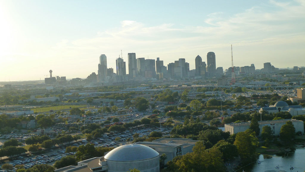Dallas Skyline from the top of the Texas Star