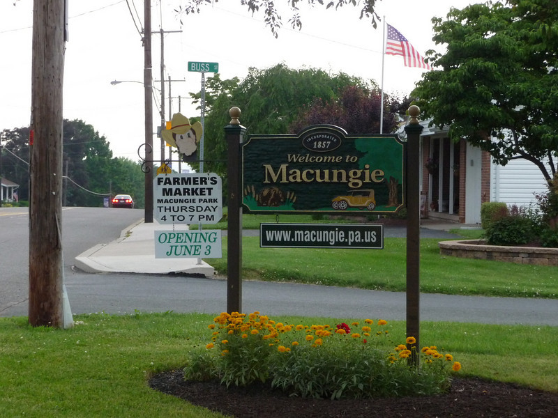 Welcome to Macungie, PA (Official Sign)
