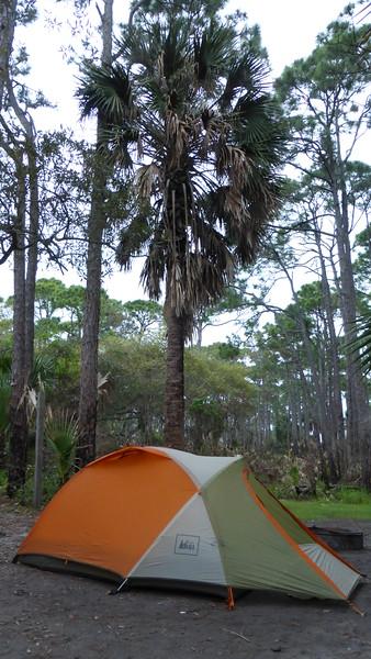 Campsite at St. Joseph Peninsula State Park