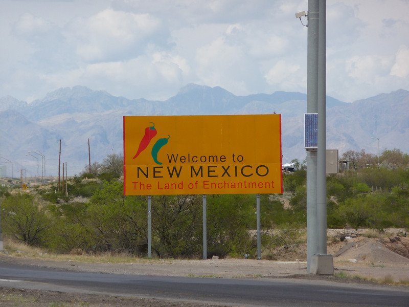 New Mexico (Welcome State Road Sign)