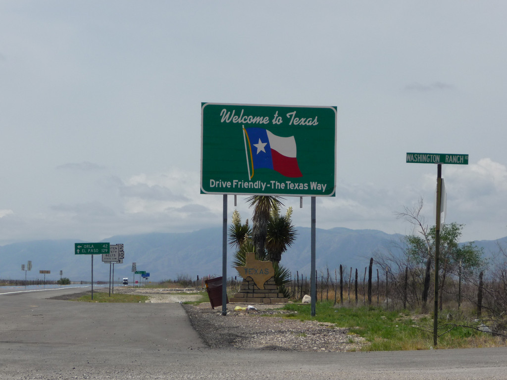 Texas (Welcome State Road Sign)