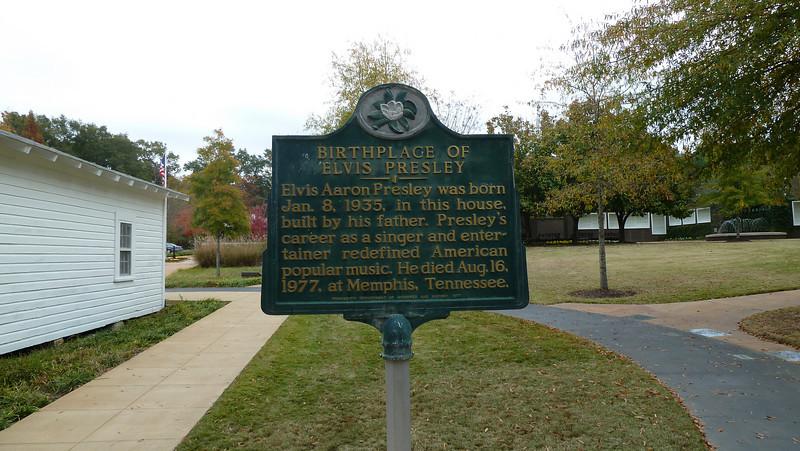Birthplace of Elvis Presley.