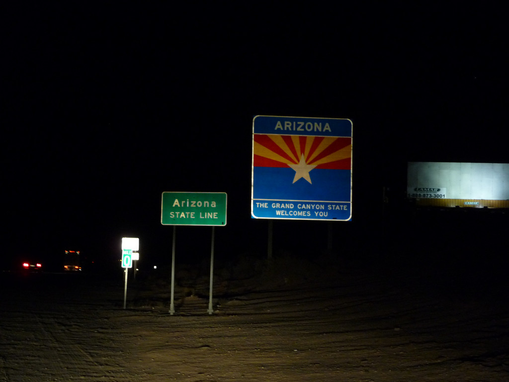 Arizona (Welcome State Road Sign)