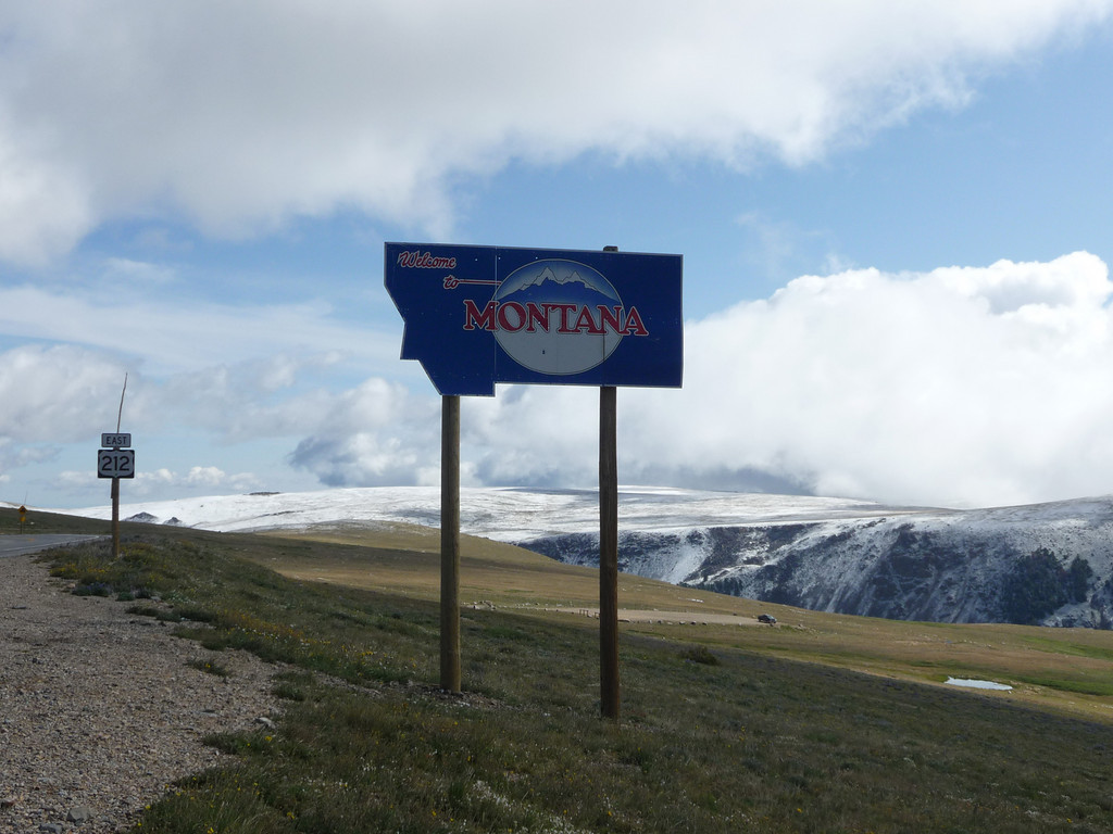 Montana (Welcome State Road Sign)