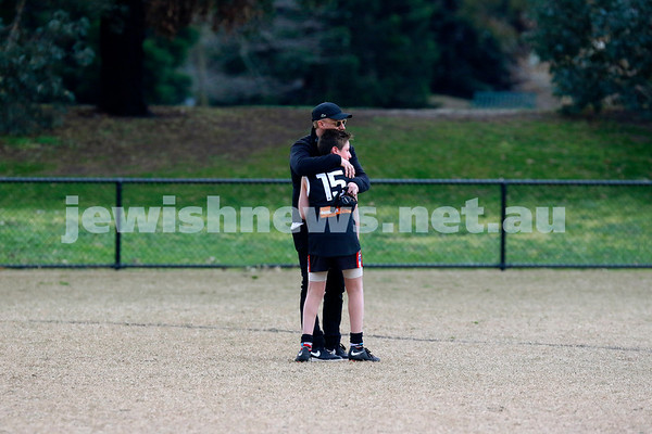 It was a tough way to end the season, having finished on top and with only two losses for the year, AJAX Under 13 Jets lost by just fives points to Mordialloc Braeside in the weekends grand final. Photo: Peter Haskin